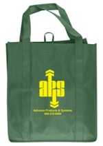 Spruce Green Grocery Tote Bag