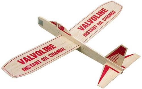 12-inch Balsa Wood Glider with customized message