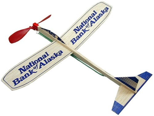 Personalized 12-inch Wood Motor Airplane